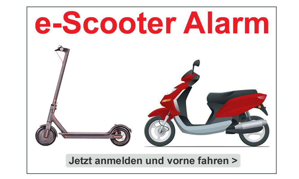 e-roller und e-scooter Alarm